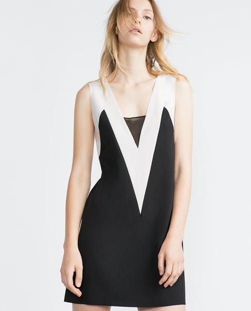 Black v two tone dress