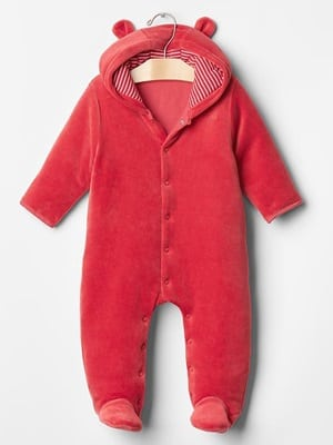 GAP Newborn velour bear one piece