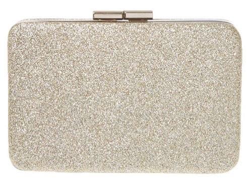 Claires Gold Glitter Clutch 14