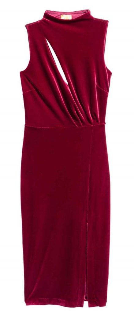 HM Sleeveless Velour Dress 39.99