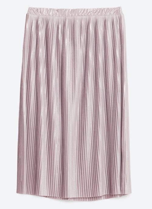 Zara Pleated Midi Skirt 17.99