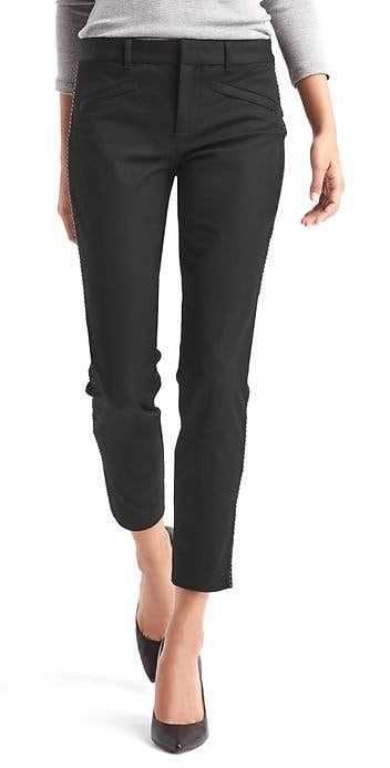 GAPBi stretch skinny ankle stud trim pants 49.95