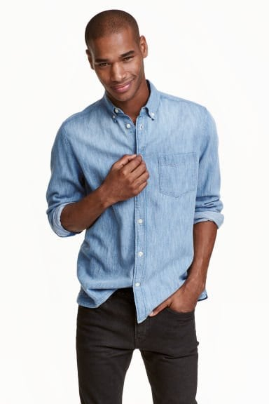 HM Denim Shirt Regular Fit 19.99