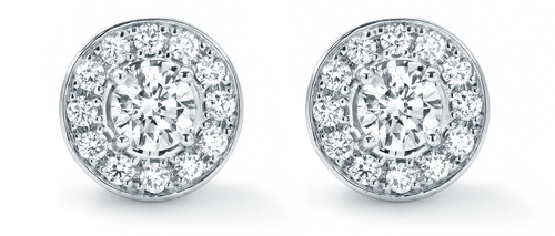 Goldsmiths Classic White Gold and Diamond Stud Earrings 3500