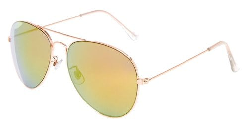 Claires Rose Gold Toned Yellow And Pink Tinted Aviator Sunglasses 8