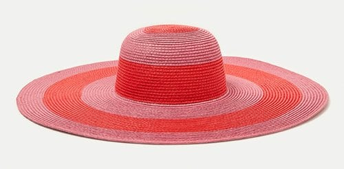 Zara Large Striped Floppy Hat 17.99