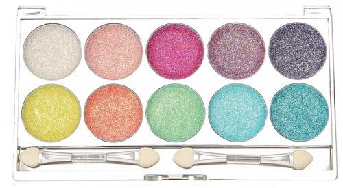 Claires 10 Piece Bright Glitter Eyeshadow 8