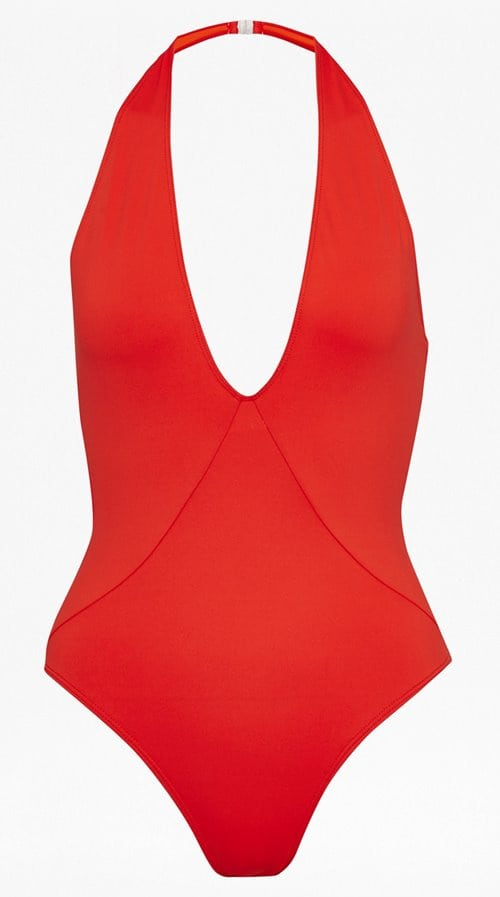 French Connection Halter Neck Plunge Swimsuit 55