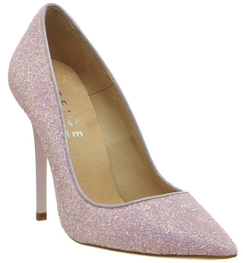 Office On To Point Court Heels Lilac Glitter 68