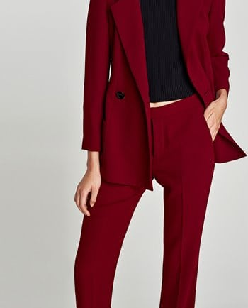 Zara Burgundy Trousers 39.99 350x