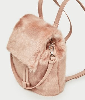 Zara Faux Fur Backpack 29.99
