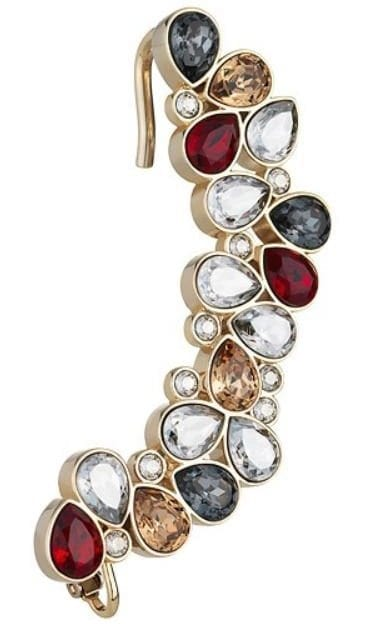 Swarovski Mosaic Ear Cuff Gold Plating 249