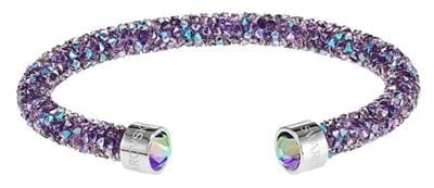 Swarovski Crystaldust Cuff Purple Stainless Steel 59