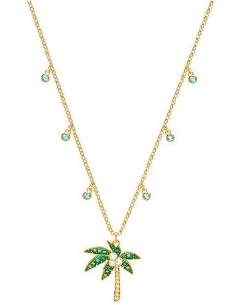 Swarovski Lime Palm Tree Necklace 79