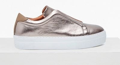 French Connection Sara Slip on Platform Trainers 75