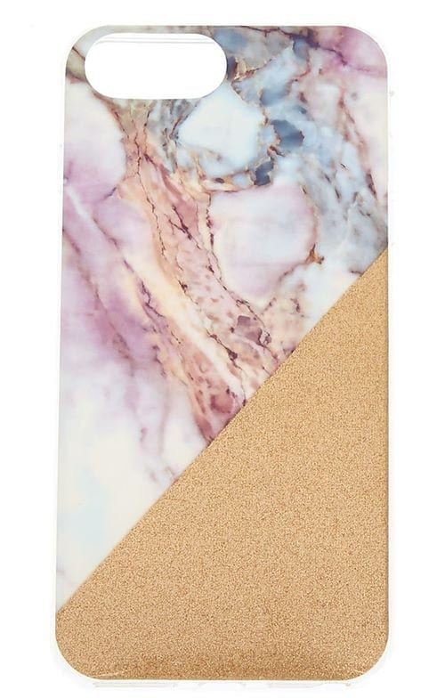 Claires-Pastel-Marble-Geometric-Phone-Case-£8