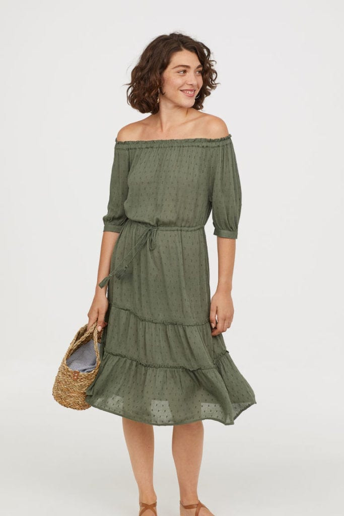 Off-the-shoulder dress - £29.99