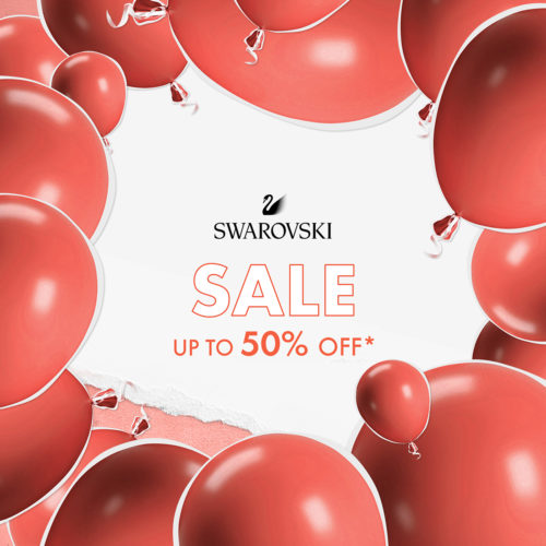 Up to 50% off in the Swarovski's summer sale