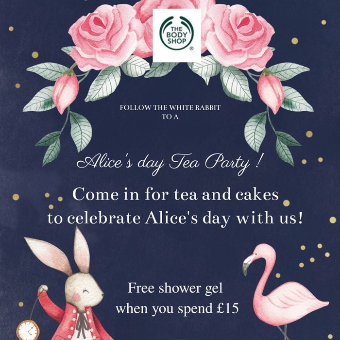 Alice's Day at The Body Shop