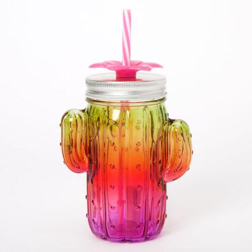 Flower Cactus Ombre Mason Jar Cups - Claire's - £8